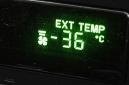 Température extèrieure, Dawson City, Yukon (Canada), au mois de Février