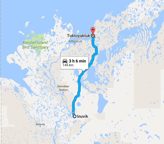 route de Inuvik à Tuk