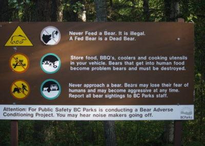 Les précautions vis à vis de la faune