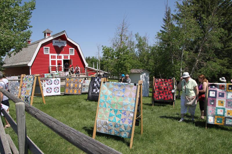 Exposition de patchworks - Heritage Park Calgary