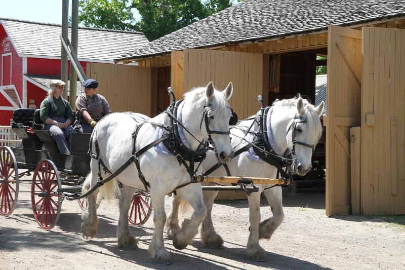 Chariot d'époque - Heritage Park Calgary