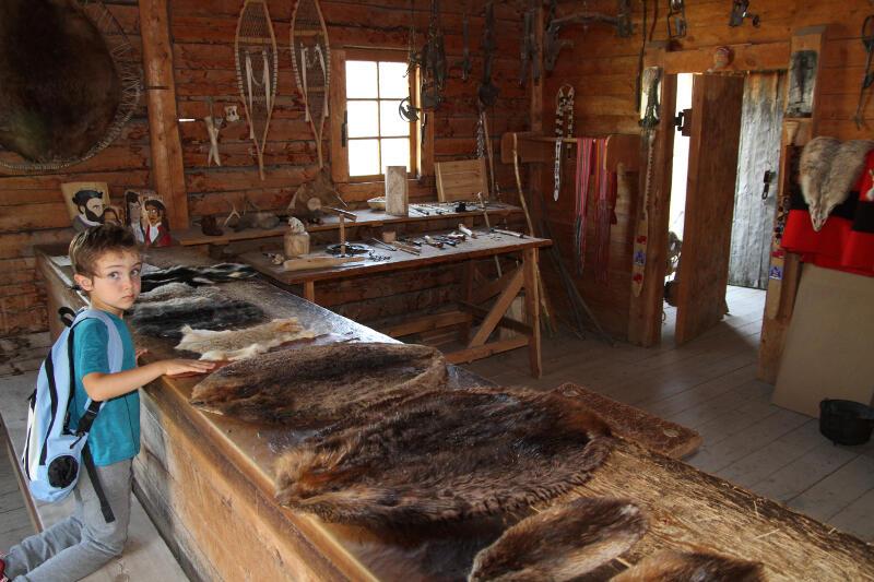 Dans le poste de traite - Heritage Park Calgary