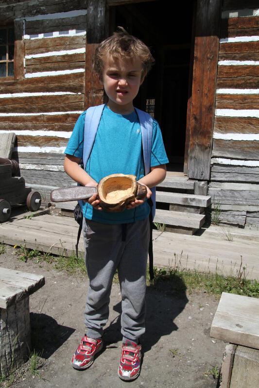 Sylvain au poste de traite - Heritage Park Calgary